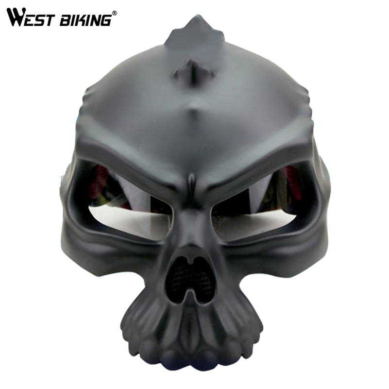 WEST BIKING Cycling Helmet Skull Motorcycle Helmet Harley Open Face Retro Motorbike Casco Capacete Ciclismo Bike Bicycle Helmets universal bike bicycle motorcycle helmet mount accessories