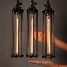 الرجعية خمر قلادة أضواء البخار فاسق النمط الصناعي رئيس واحد استخدام اديسون ضوء لمبة hanglamp لوميناريا قلادة مصباح