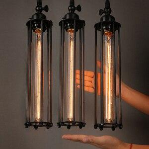 Image 1 - Retro Vintage Pendant Lights Steam Punk Industrial Style Single Head Use Edison Light Bulb hanglamp luminaria pendant lamp