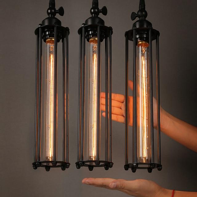 Retro Vintage Pendant Lights Steam Punk Industrial Style Single Head Use Edison Light Bulb hanglamp luminaria pendant lamp