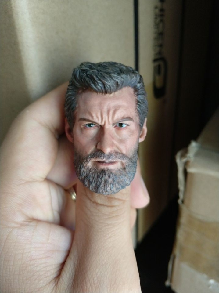 1/6 Wolverine Logan Old Aged Version Head Sculpt for 12''Figures Bodies 1 6 scale asian mens old aged head sculpt for 12 inches male bodies figures dolls accessories brinquedos gifts toys