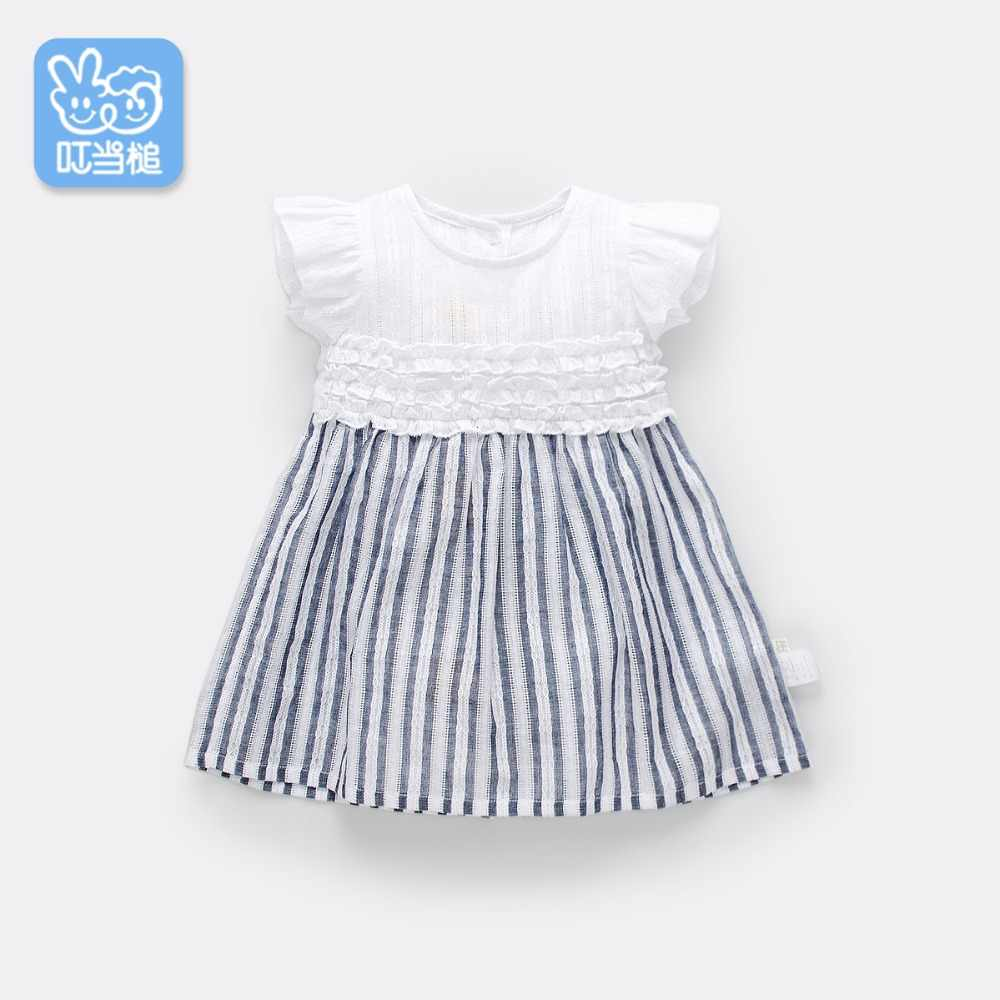 Summer baby Breathable cotton high quality clothes infant toddler lovely costumes children short sleeve girls dress 0-4Year