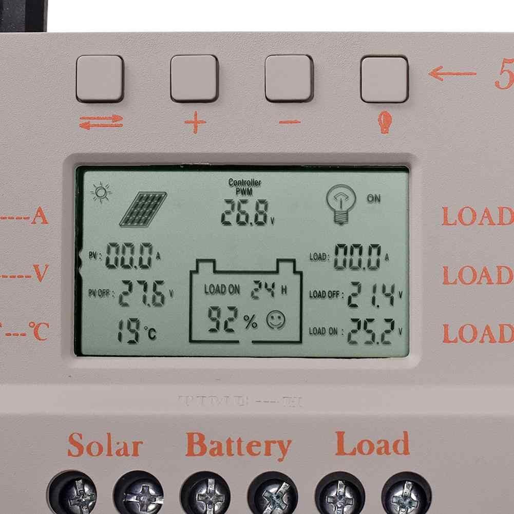 2019 nuevo 30A MPPT LCD controlador de carga Solar 12 V/24 V 380 W/760 W Panel Solar regulador Auto de trabajo venta caliente