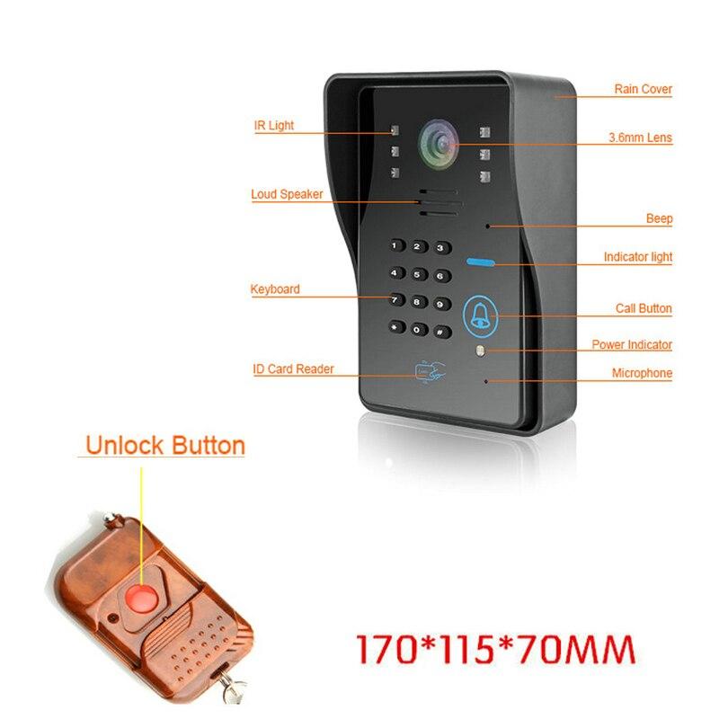 Wireless Remote Cellphone WIFI Visual Door Phone Doorbell Intercom Monitor  Card Unlock Function U0026 Remote Wireless Control In Access Control Kits From  ...
