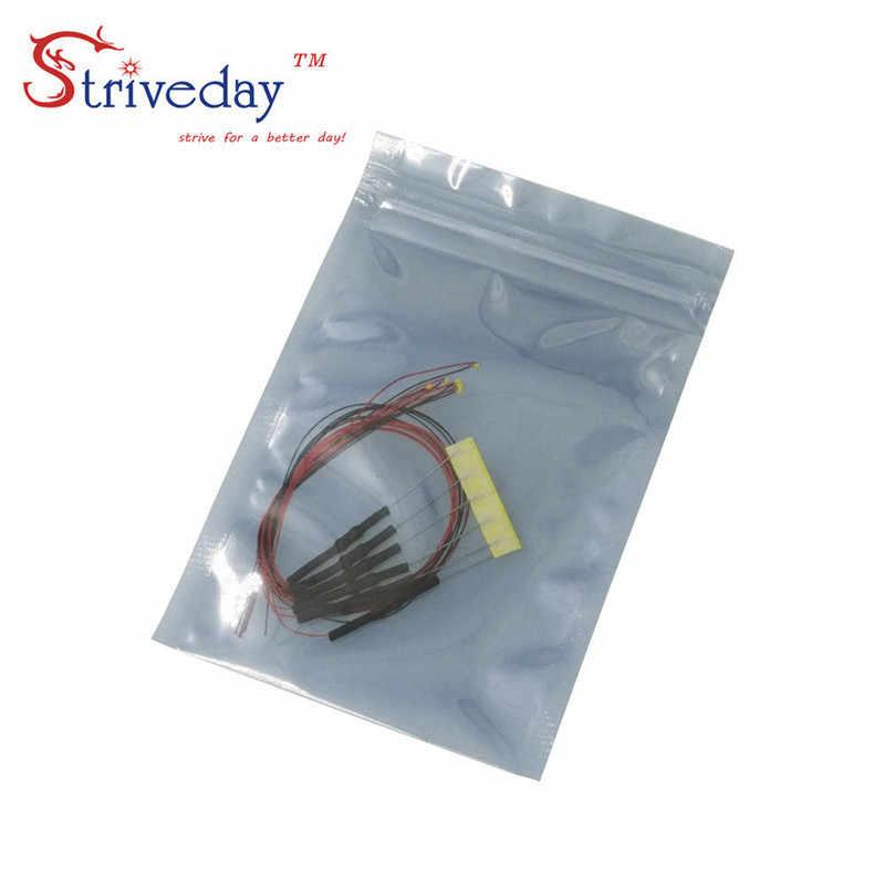 10/50/100 sztuk 1206 SMD wstępnie lutowane mikro litz przewodowe diody LED rezystor 20 cm 8 -12 V Model DIY