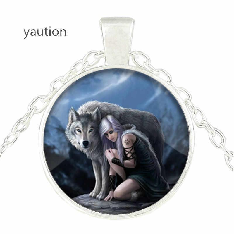 New Pendant Necklace Cổ Điển Teen Wolf Hình Ảnh Glass Cabochon Cáo Chuỗi Vòng Cổ Mùa Hè Phong Cách Trang Sức