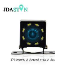 HD CCD 8 diod led widok z tyłu samochodu kamera Night Vision uniwersalna cofania samochodu kamera wsteczna samochodowy o szerokim kącie tworzenia kopii zapasowych kamera parkowania