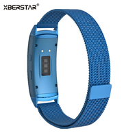 Stainless Steel Mesh Milanese Magnetic Loop Bracelet Strap Watchbands for Samsung Galaxy Gear fit 2 SM-R360 GPS Fitness tracker