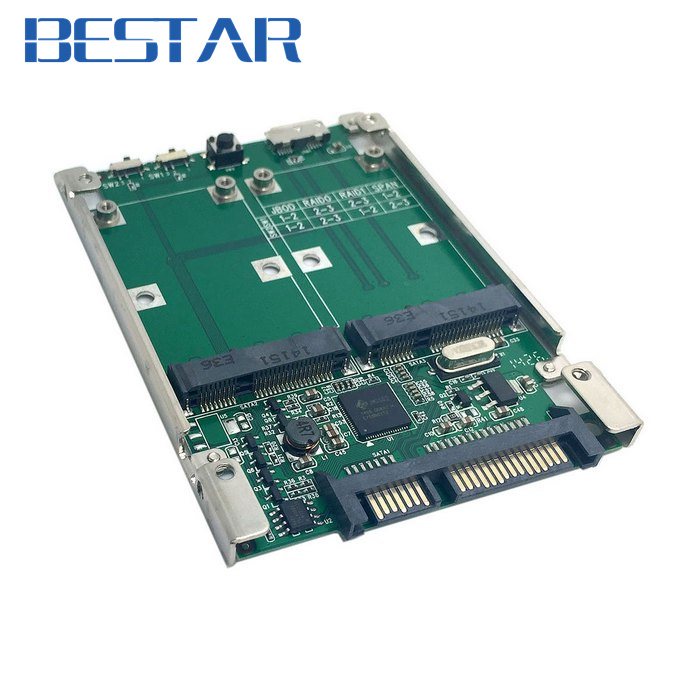 2.5 Dual Mini pcie PCI-E pci express pci-express mSATA RAID SSD Adapter to SATA Raid 22pin & USB 3.0 Hardware RAID card 2 5 dual mini pcie pci e pci express pci express msata raid ssd adapter to sata raid 22pin