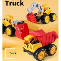 Mini Simulation Truck Bulldozer Excavator Car Plastic Toys for Children Trucks Baby Educational Toys Best Christmas Gift 699