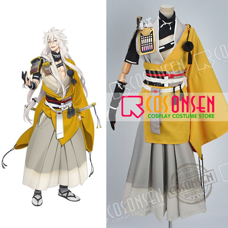 Touken Ranbu Kogitsunemaru Cosplay Costume Any Size Custom Made With Shoulder Armour COSPLAYONSEN image