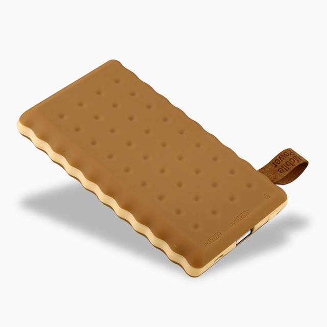 Banco do Poder de viagens Caso Biscoito Li-Polímero 10000 mAh Dual USB Portátil Carregador de Bateria Externa Powerbank Para O Telefone Móvel