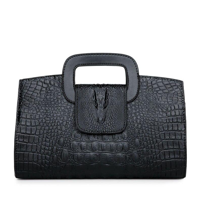 Image 2 - High Quality Crocodile Pattern Handbag New Fashion Personality Temperament Simple Shoulder Bag Wild Casual Messenger BagShoulder Bags   -