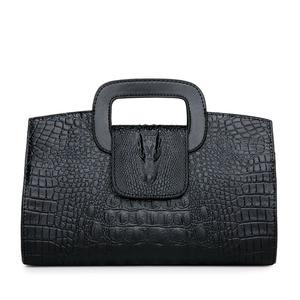 Image 2 - High Quality Crocodile Pattern Handbag New Fashion Personality Temperament Simple Shoulder Bag Wild Casual Messenger Bag