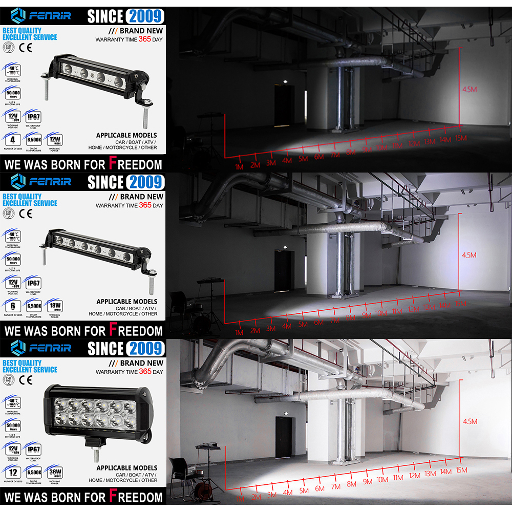 פורד בר אור LED עבודה קלה עבור פולקסווגן נשר דודג קדילאק שברולט ביואיק קרייזלר פורד טויוטה סובארו מאזדה מיצובישי לקסוס ניסן (3)