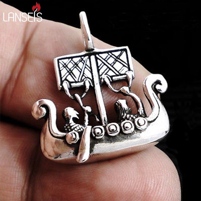 10 sztuk SDrakkar wysłać Viking Norse łodzi o długości wisiorek łodzi wikingów Dragonsoul biżuteria wojownik, łodzi, talizman naszyjnik w Naszyjnik z wisiorkiem od Biżuteria i akcesoria na  Grupa 1