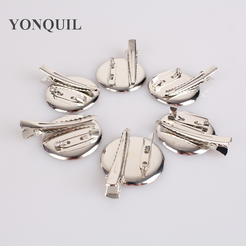 DIY brooch base 35mm 200pcs/lot Dual Brooch Back Base With Clip and Safety Pin use for brooch and hair jewelry DIY HAT CPAM free