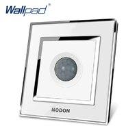 Free Shipping Sensor Switch KREIMA Luxury Wall Light Switch Golden Acrylic Glass Panel 110 250V