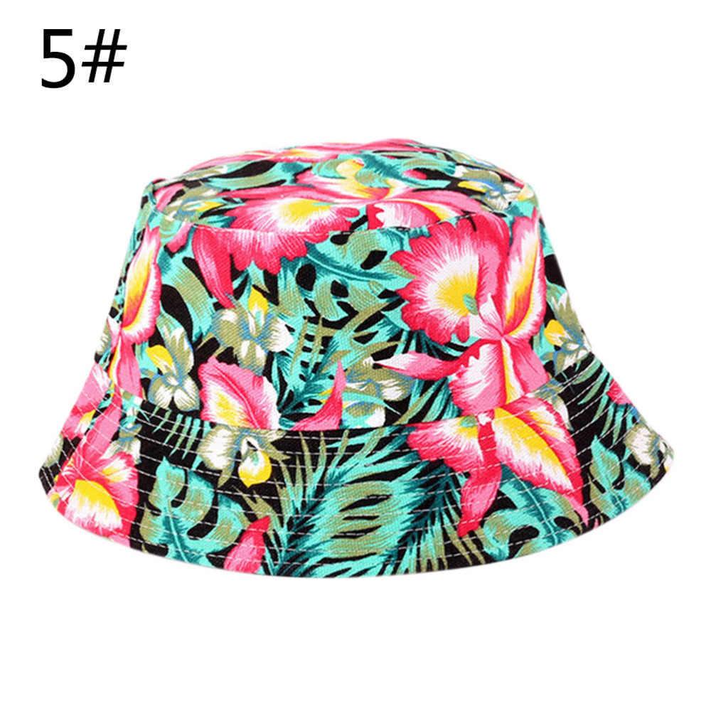Unisex Bunga Matahari Topi Lucu Liburan Musim Panas Baru Pantai Kolam Cap Ember Memancing Topi Matahari Perlindungan untuk Pria Wanita