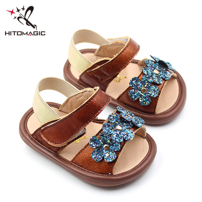 HITOMAGIC Baby Sandals Girls Shoes Summer 2018 Genuine Leather Toddler Soft  New Fashion Flowers White Party Wedding Dress Shoe -in Sandals   Clogs from  ... 8897ed325ace