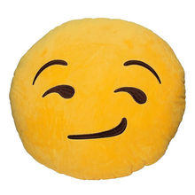 Emoji bantal bantal dekorasi bantal dekoratif Smiley Face Bantal bantal senyum emoji emoticons pad(China)