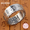 BALMORA 100% Real 925 Sterling Silver Jewelry Chinese Characters Taoist Rings for Men Male Anniversary Gifts Bijoux SY20621