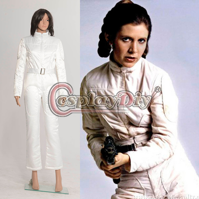 68301f3ca6bd 2015 Custom Made Star Wars A New Hope Princess Leia Organa White Jumpsuit  Cosplay Costume For Halloween Star Wars011