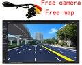 New 7 ''polegadas 1080 P tela TFT Carro MP3 player de rádio + Câmera de visão traseira 12 V Carro de Áudio e vídeo FM/USB/SD/MMC 2 Din + mapa