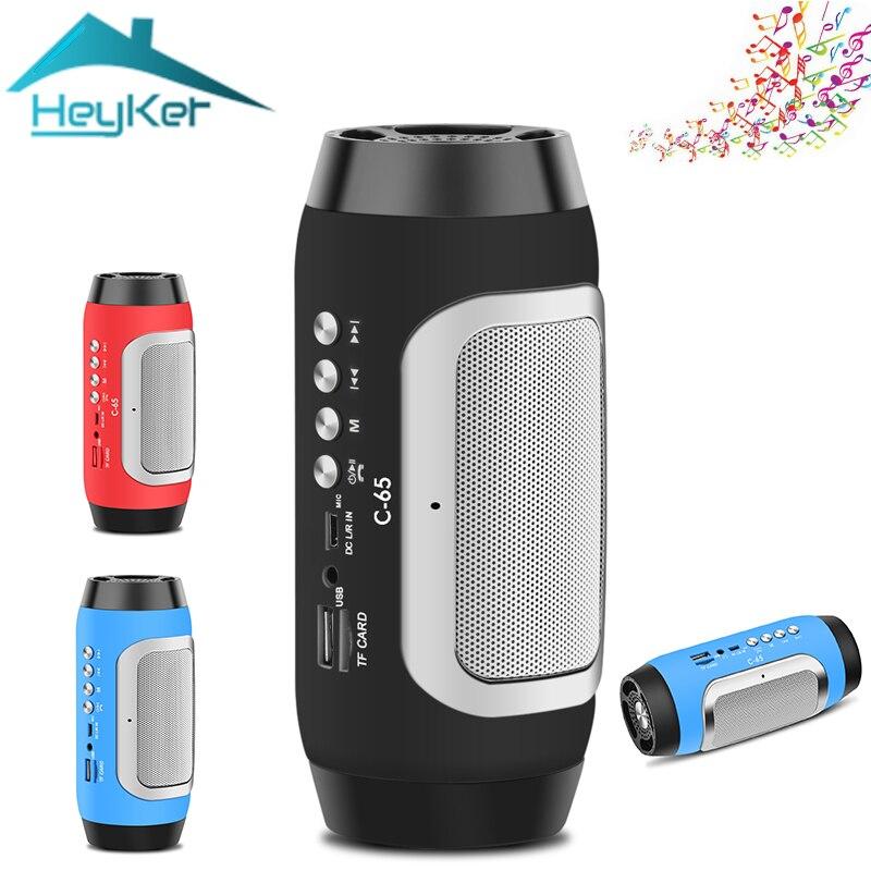 Mini Tragbare Lautsprecher Wahre Wireless Bluetooth Lautsprecher C-65 Loundspeakers mit Mic Unterstützung TF Karte Fm Radio Boombox caixa de som
