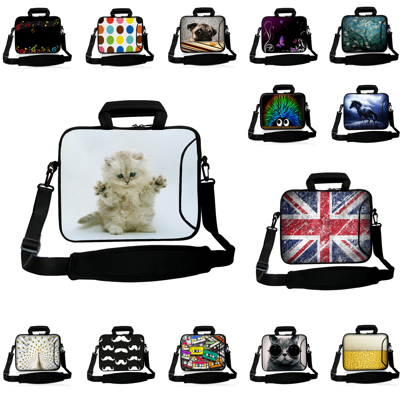 Viviration 15 Inch Notebook Bag 15.6 13.3 14 12.3 12 10 17 13 11.6 12.9 10.1 Inch Neoprene Briefcase Handbag Laptop 17.3 Case