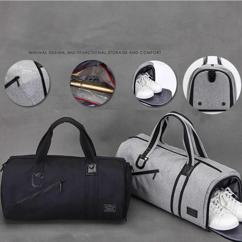 Men Gym Wet Dry Bags For Training Waterproof Fitness Women Sports Bag For Shoes Pocket Travel Shoulder Handbags Duffle XA542WA