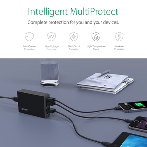 Image 5 - オリコ 5 usb ポート旅行充電器 5V2.4A eu 米国英国プラグデスクトップ充電アダプタ電話タブレット CSL 5U