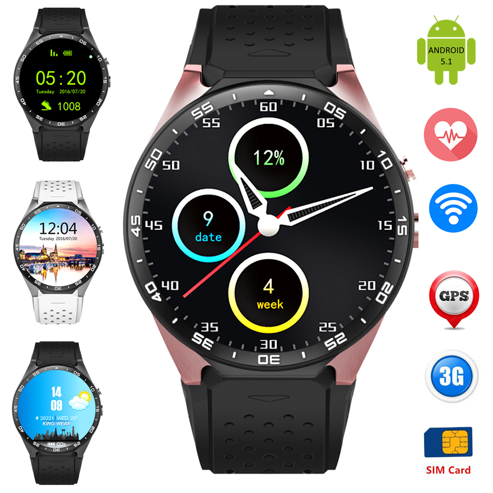 Original ZW88 Smart Wrist Watch Phone Support 3G WCDMA SIM Card GPS Heart Rate Android 5