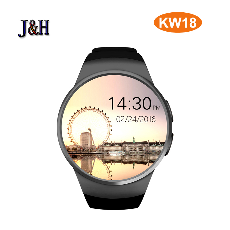 NFC Heart Rate Monitor Smart Watch KW18 SIM TF Smartwatch Android 2.5D OGS Touch Screen Smart Wristwatch Bluetooth Facebook Buit fashion heart rate monitor smart watch sim tf smartwatch android 2 5d ogs touch screen smart wristwatch bluetooth facebook buit