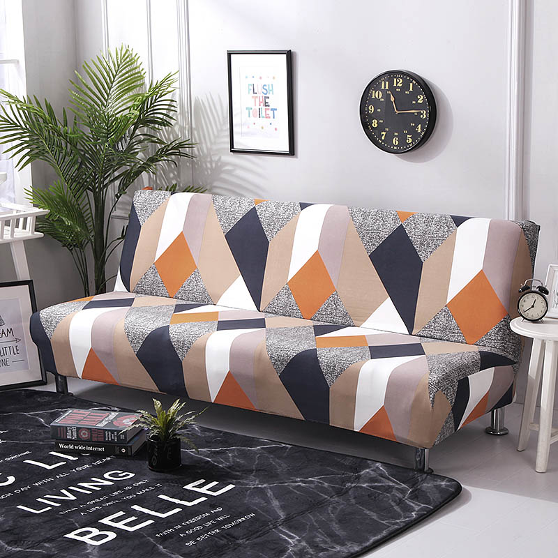 Universal Sofa Bed Cover Stretch Couch Cover Sofa Funiture Sofa Cover Without Armrest Folding Cover For Sofa Bed 160-190cm 1PC