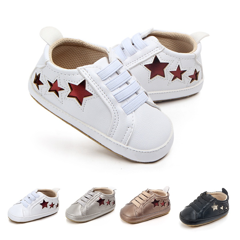 Baby Boys Born Doll Fashion Star Leather Casual Doll Shoes First Walker 4 Colors 0-12m First Walkers Baby Shoes