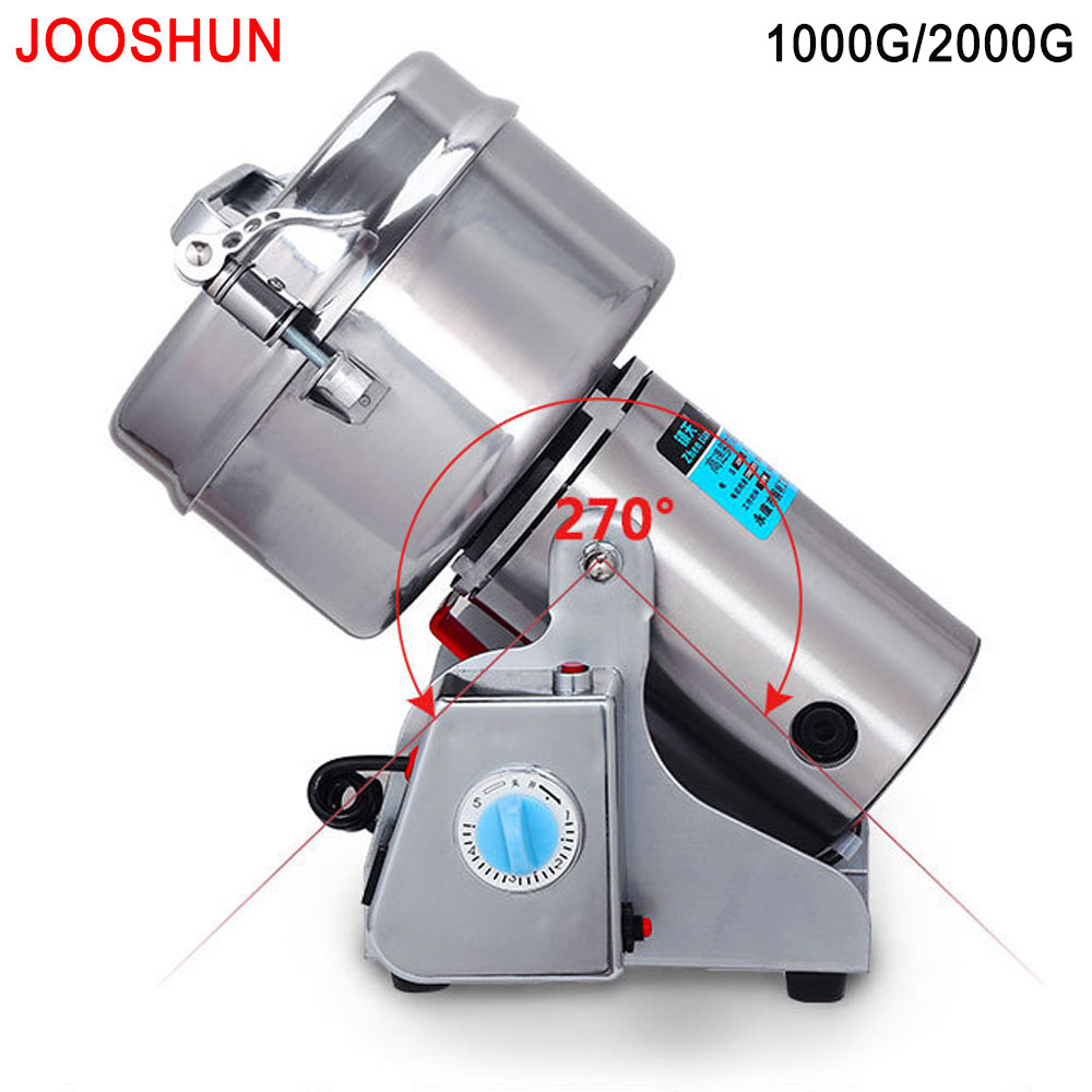 Swing Portable Factory Grinder Spice Food Flour Mill Grain Powder Machine Coffee Soybean Pulverizer Stainless Medicine Grinder 1000g swing food grinder milling machine small superfine powder machine for coffee soybean herb sauce grain crops