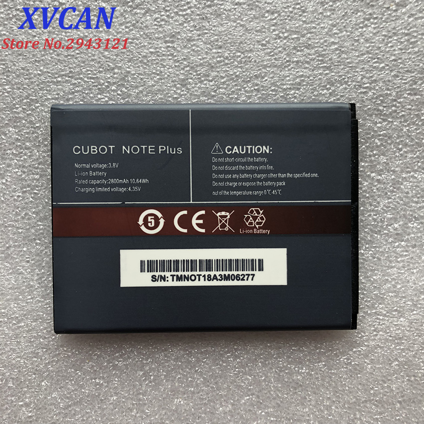 CUBOT NOTE Plus Battery 2800mAh 100% New Replacement Backup Battery For CUBOT NOTE Plus Cell Phone In Stock