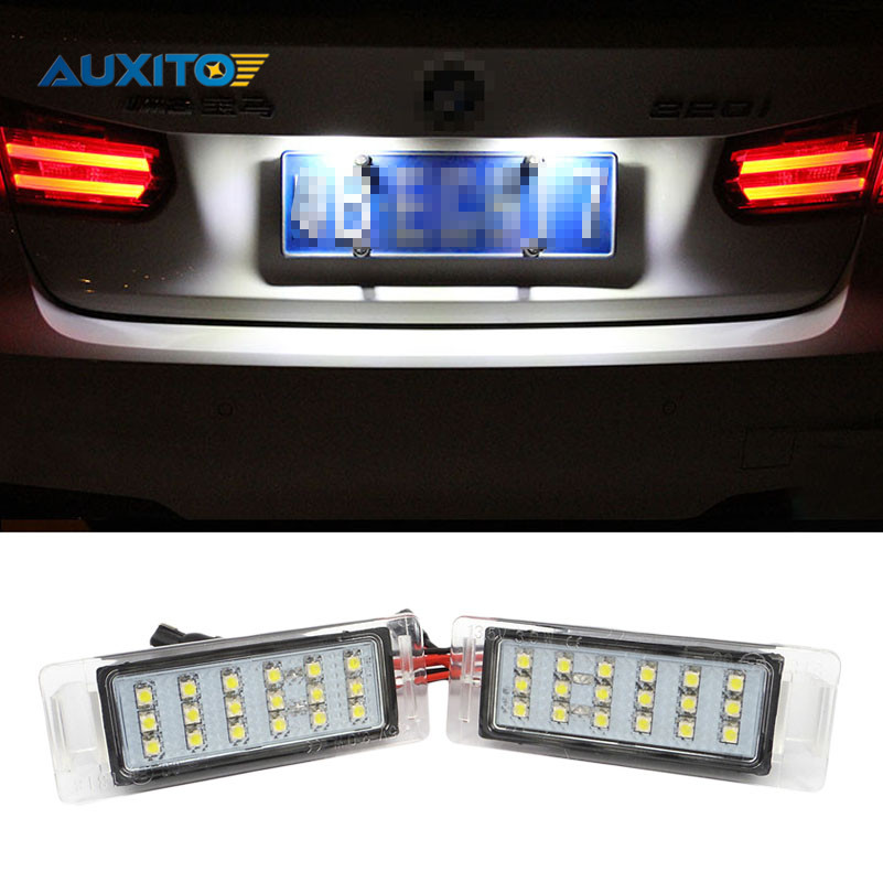 2x AUXITO No Error Car Auto Rear Trunk Assembly License Plate Lamp Light For Chevrolet Cruze 2010-2014 Camaro 2010-2013 car rear trunk security shield cargo cover for volkswagen vw tiguan 2016 2017 2018 high qualit black beige auto accessories