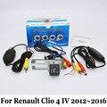 Para Renault Clio 4 IV 2012 ~ 2016/Posterior Del Coche Con Cable O Inalámbrica Cámara de visión/RCA HD Visión Nocturna del CCD/Lente Gran Angular cámara