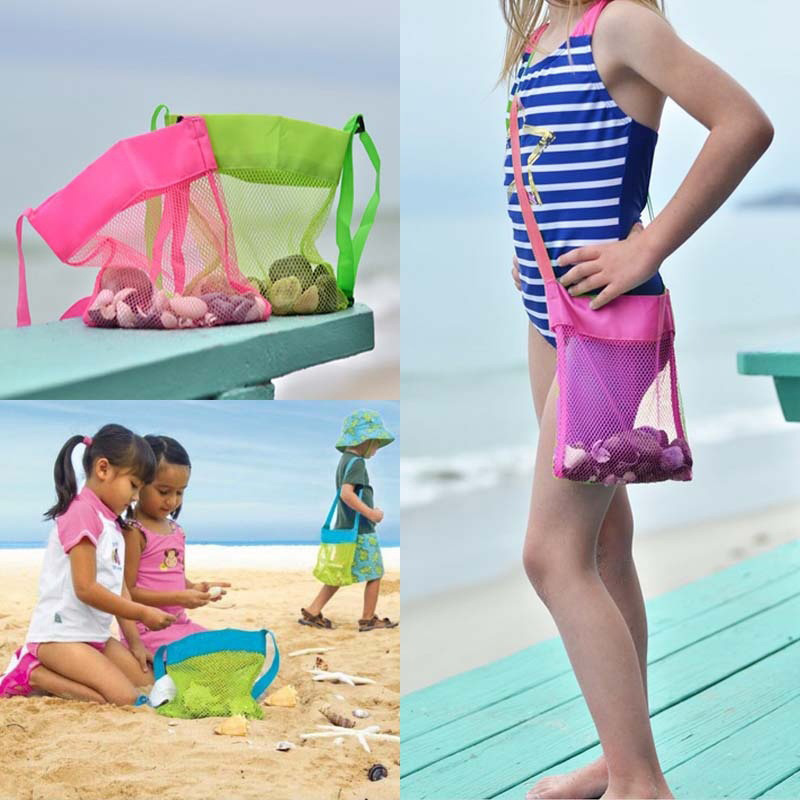 23cm Mesh Travel Bags For Beach Toys Applied Enduring Children Sand Toy Clothes Towel Bag Baby Toy Storage Mesh Bag For Kids