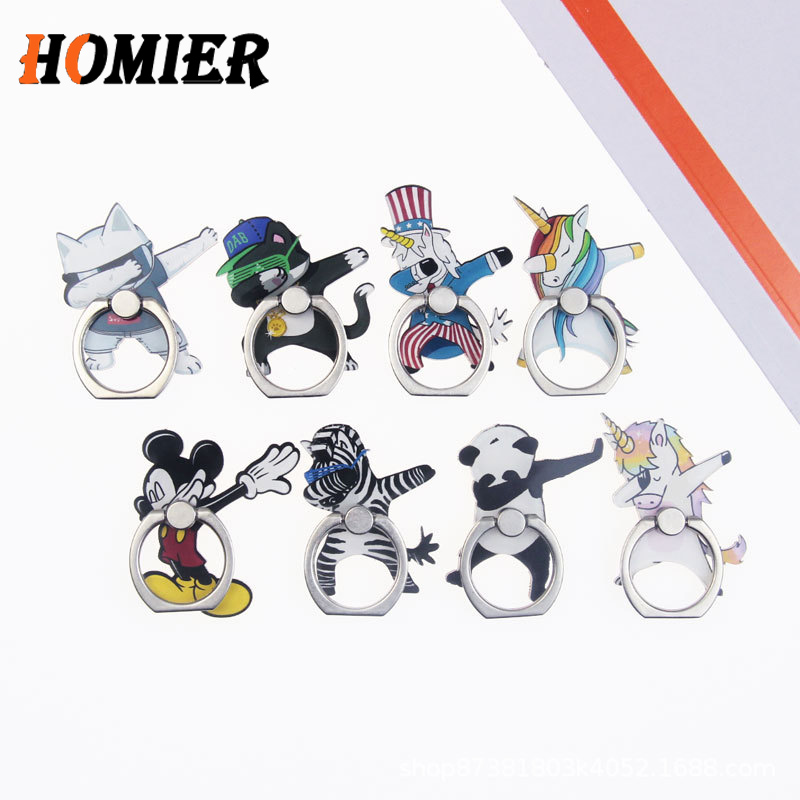 Universal Metal Hot Finger Ring Mobile Cell Phone Cute Cartoon Phone Holder Stand For IPhone 6s 7 8 Plus X Brack Socket Holder