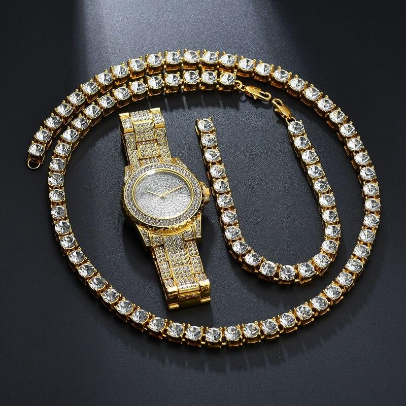 Best buy ) }}Men And Women Hip Hop Gold Color Full Rhinestone
