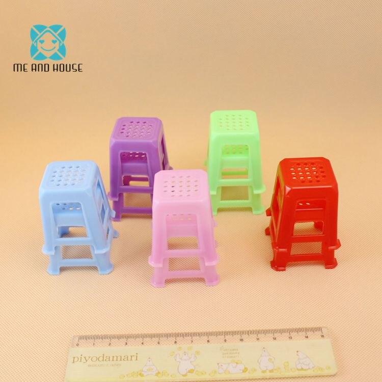 Мини кукольный домик игрушки 1:12 Масштаб миниатюры Кукольный дом пластиковые мини площади стул украшение