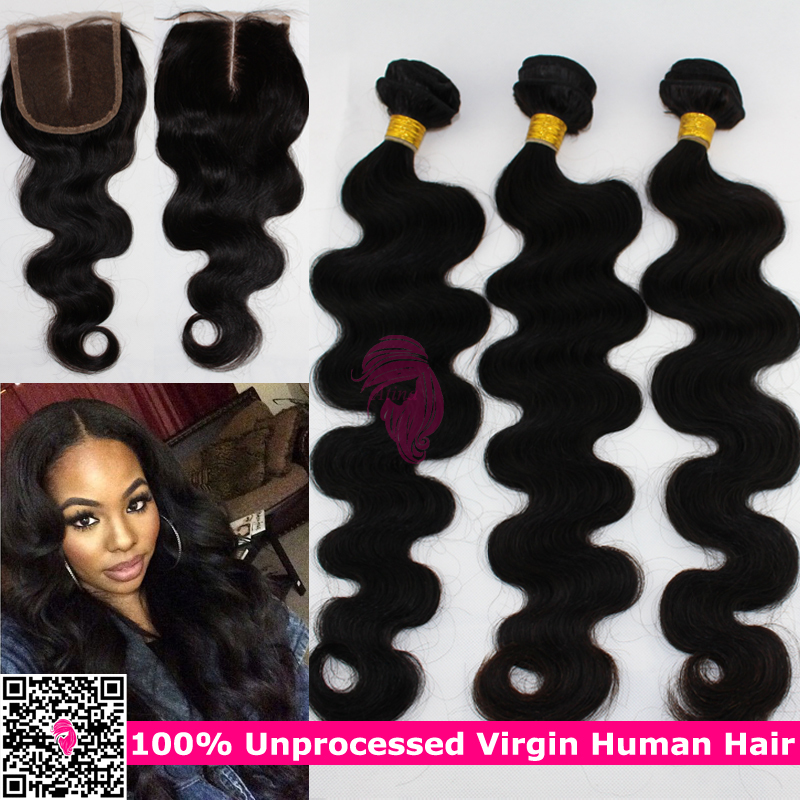 russian body wave hair with closure