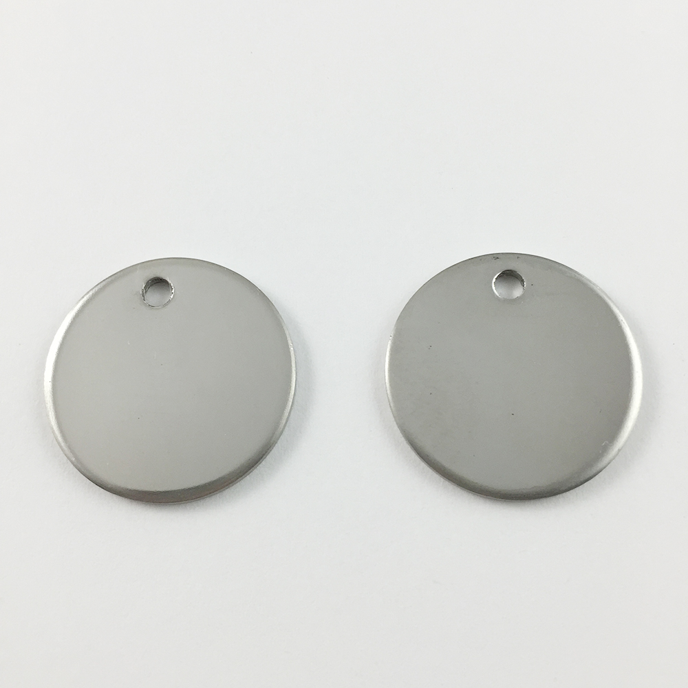 200pcs lot DIY Silver Tone Round Stainless Steel Blank Stamping Tags Pendants Jewelry Component Personalized Pet