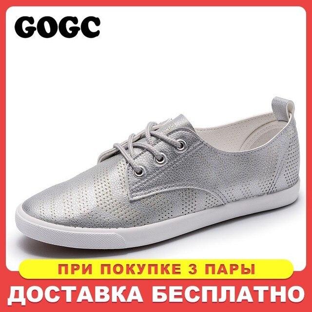 GOGC 2019 Stil Kadın Delik Nefes Kadın düz ayakkabı ile Ayakkabı Kadın Sneakers rahat ayakkabılar Yaz Autunm Dantel-Up ayakkabı 939