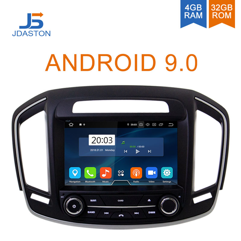 JDASTON Android 9.0 Car DVD Player For Opel Vauxhall Insignia 2014 2015 2016 2018 WIFI Multimedia GPS Stereo 2 Din Car Radio IPS
