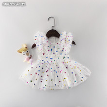 Baby Girl Dress Summer 2019 Newborn Baby Dress First 1st Birthday Dres