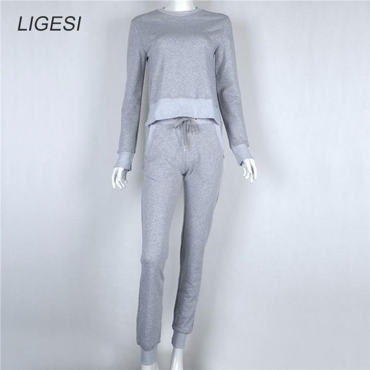 Women's Cotton Tracksuit, 2 Piece Set, Sportswear Suit, Women's Irregular Tracksuit 27